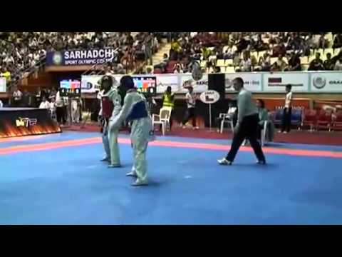 London Olympics 2012 Taekwondo Baku 68kg AFG vs CHI Officla Video 2012!