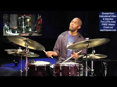 """""""Jazz Drummer"""" Eric Harland JazzHeaven.com DVD Excerpt: Playing behind/on/ahead of the beat"""