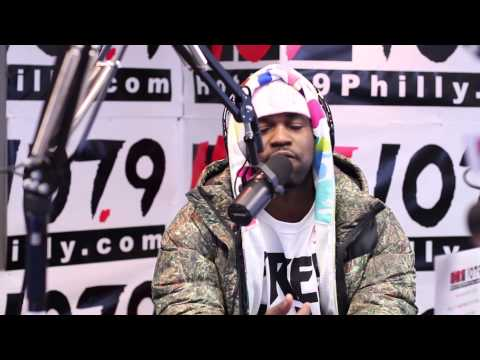Asap Ferg spits his first rap and raps over 2 pac's Hail Mary on The Qdeezy Show