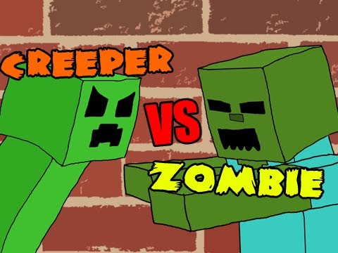 RAP BATTLE – CREEPERS VS ZOMBIES!  (MINECRAFT SONG)
