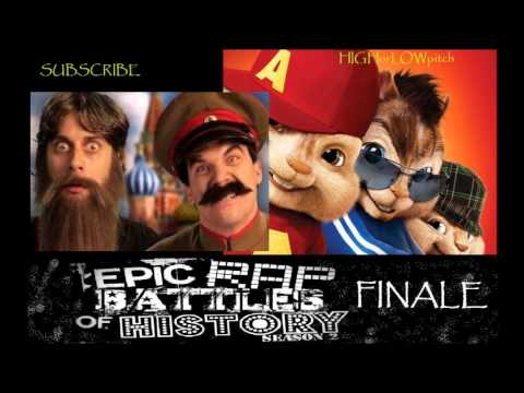 Rasputin vs Stalin.[ CHIPMUNKS VERSION ] Epic Rap Battles of History Season 2 finale.