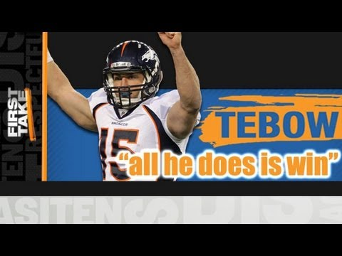 """Tim Tebow – """"All He Does Is Win"""""""