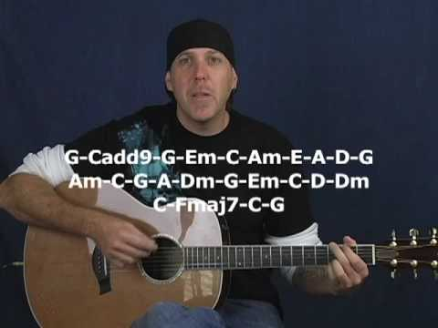 Play any song on guitar Beginner lesson with exercises strum patterns chords acoustic or electric