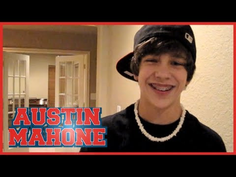"""With You"" Chris Brown cover – 14 yr old Austin Mahone with lyrics"